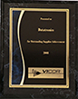 Vicor Outstanding Supplier Achievement 2008 Award